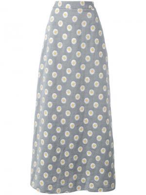 Юбка макси с принтом Ultràchic. Цвет: серый