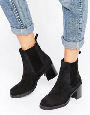 ASOS Замшевые ботинки челси RHODA. Цвет: черный