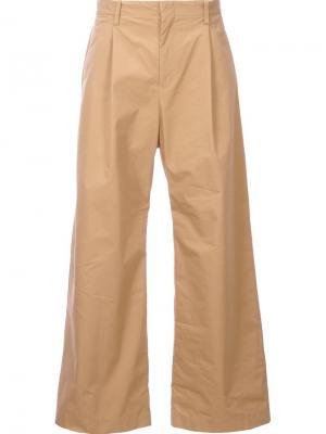Широкие брюки Yoshio Kubo. Цвет: коричневый