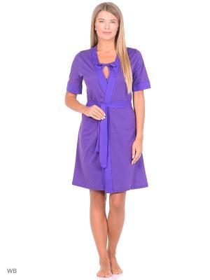Комплект (Халат и сорочка) Magwear. Цвет: фиолетовый