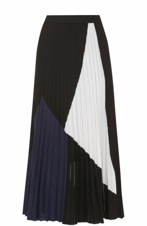 Плиссированная юбка-миди из шелка Proenza Schouler. Цвет: разноцветный
