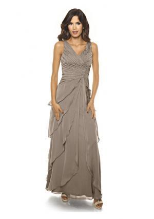 Вечернее платье ASHLEY BROOKE by Heine. Цвет: бежевый, темно-синий