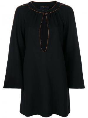 Расклешенное платье с вырезом замочная скважина Vanessa Seward. Цвет: чёрный