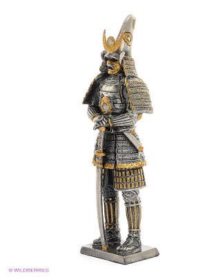 Статуэтка Самурайский полководец Като Киёмаса Veronese. Цвет: серый