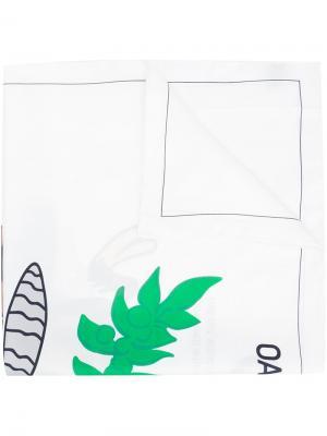 Платок с мультяшным рисунком Oamc. Цвет: белый