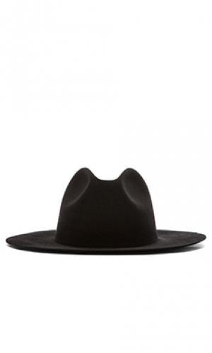 Шляпа федора с широкими полями midnight Etudes. Цвет: черный