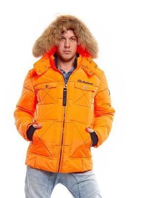 Куртка с капюшоном NICKELSON. Цвет: оранжевый