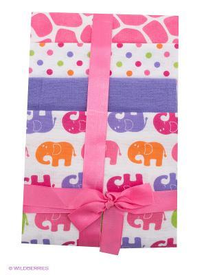 Комплект для новорожденных Luvable Friends. Цвет: сиреневый, розовый, белый