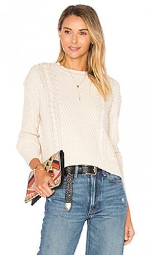 Прямой вязаный свитер с круглым вырезом Autumn Cashmere. Цвет: нейтральный
