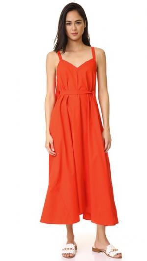 Платье Paradiso VEDA. Цвет: ярко-оранжевый