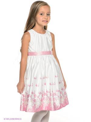Платье Vitacci. Цвет: белый, бледно-розовый
