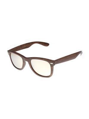 Солнцезащитные очки Gusachi. Цвет: коричневый, серебристый
