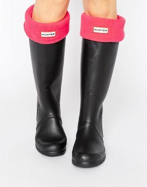 Hunter Розовые носки Original. Цвет: розовый