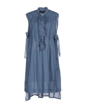 Платье до колена HIGH. Цвет: грифельно-синий