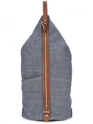Рюкзак в стиле колор-блок Mismo. Цвет: синий