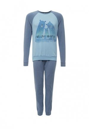 Пижама United Colors of Benetton. Цвет: синий
