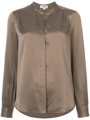 Blouse with mandarin collar Lagence L'agence. Цвет: коричневый