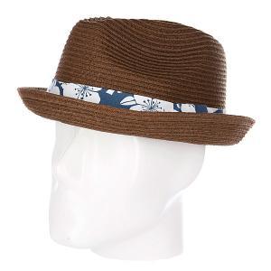 Шляпа  Aloha Fedora Brown Rip Curl. Цвет: коричневый