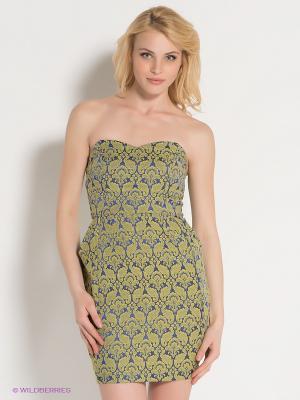 Платье AX Paris. Цвет: синий, хаки