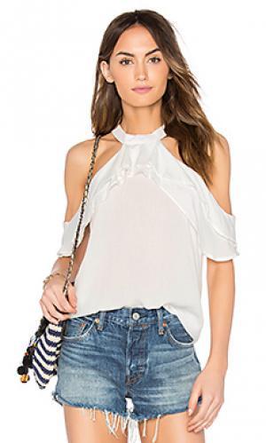 Блуза с рюшами Band of Gypsies. Цвет: белый