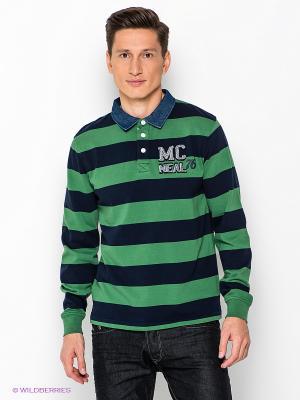 Лонгслив-Поло MC NEAL. Цвет: зеленый, темно-синий