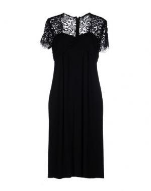 Платье до колена MARIELLA BURANI. Цвет: черный