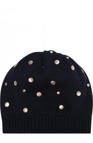 Хлопковая шапка с декором Catya. Цвет: темно-синий