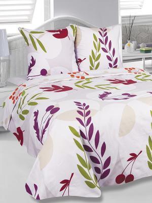 Комплект постельного белья Вишенка Тет-а-Тет. Цвет: бледно-розовый, зеленый, фиолетовый