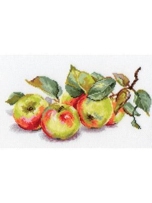 Набор для вышивания Яблоки  27х15 см. Алиса. Цвет: желтый,зеленый,красный