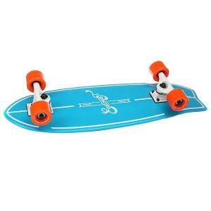 Скейт мини круизер  Surf Seablue 8.25 x 27 (68.5 см) Eastcoast. Цвет: голубой