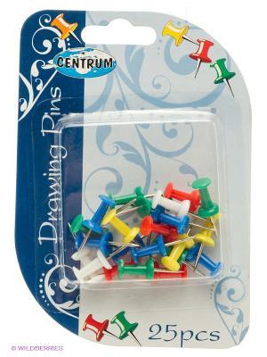 Кнопки-гвоздики цветные, 25 штук Centrum. Цвет: синий