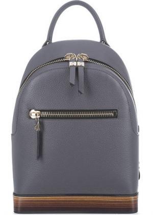 Вместительный кожаный рюкзак Gironacci. Цвет: серый
