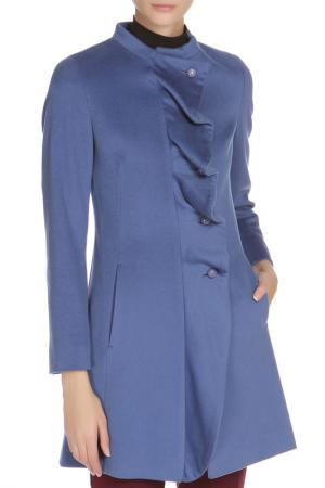 Пальто с застежкой на пуговицы Cinzia Rocca. Цвет: голубой