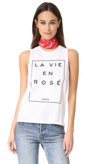 Майка La Vie En Rose South Parade. Цвет: белый
