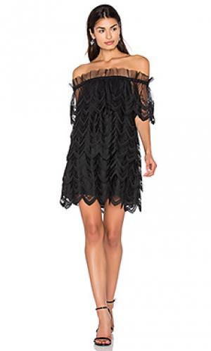 Платье ali Alexis. Цвет: черный