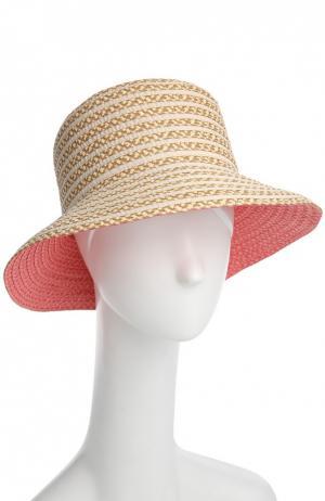 Шляпа Eric Javits. Цвет: коралловый