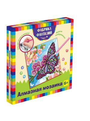Алмазная мозаика Вдохновение, размер 20х20 см Фабрика Фантазий. Цвет: зеленый, белый, бледно-розовый, бордовый, голубой, горчичный, розовый, серо-голубой, серо-зеленый