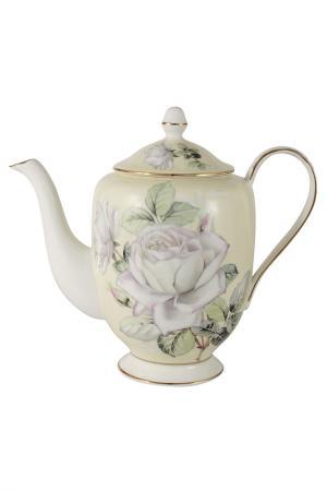 Чайник 1.0л Белые розы Colombo. Цвет: бело-розовый