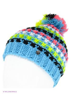 Шапка CMP. Цвет: голубой, розовый, белый