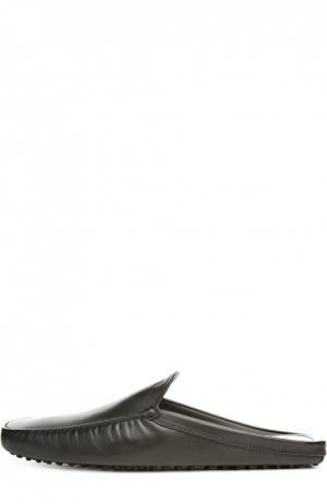 Кожаные мокасины без задника Tod's. Цвет: черный