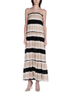 Длинное платье BONSUI. Цвет: бежевый