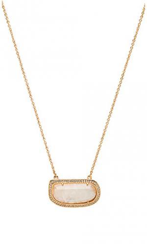 Ожерелье stone slice Melanie Auld. Цвет: металлический золотой