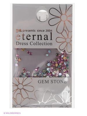 Стразы-камушки для ногтевого дизайна Розовая роза 2мм ETERNAL Dress Collection Gem Stone Pink Rose PA presents since 2004. Цвет: серебристый