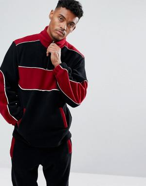 Jaded London Черная флисовая спортивная куртка. Цвет: черный