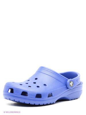 Сабо CROCS. Цвет: синий, фиолетовый