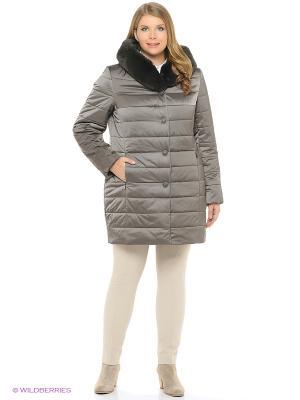 Утепленное пальто MONTSERRAT. Цвет: темно-серый