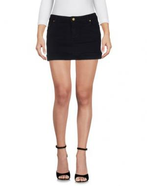 Джинсовая юбка DUCK FARM. Цвет: черный
