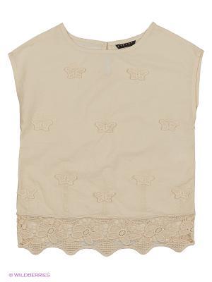Блузка Sisley Young. Цвет: бежевый