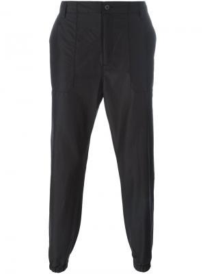 Зауженные брюки Helmut Lang. Цвет: чёрный