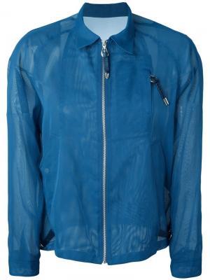Сетчатая куртка Toga. Цвет: синий